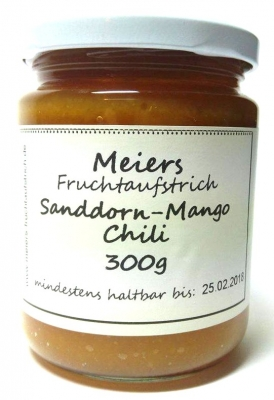 Fruchtaufstrich Sanddorn-Mango Chili 300g
