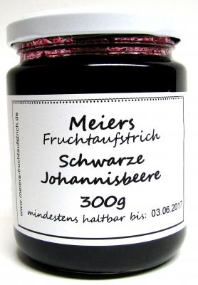 Fruchtaufstrich Schwarze Johannisbeere 300g