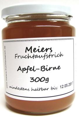 Fruchtaufstrich Apfel-Birne 300g