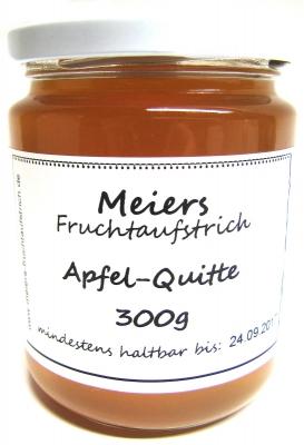 Fruchtaufstrich Apfel-Quitte 300g