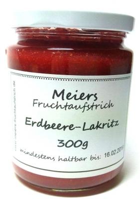 Fruchtaufstrich Erdbeere-Lakritz 300g