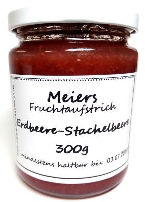 Fruchtaufstrich Erdbeere-Stachelbeere 300g