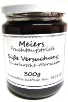 Fruchtaufstrich Süße Versuchung  (Sauerkirsche-Marzipan) 300g